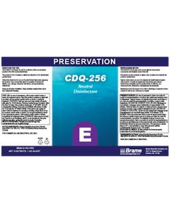 PRESERVATION Brand CDQ-256 Secondary Label