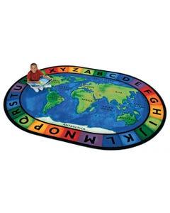 "Circletime Around the World, 8'3"" x 11'8"" Oval"