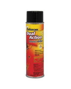 Enforcer® Dual Action Insect Killer, For Flying/Crawling Insects, 17Oz Aerosol,12/Carton