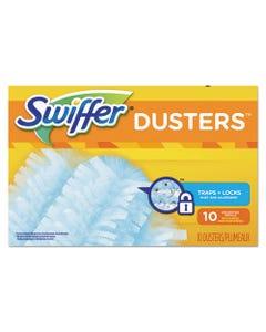 Refill Dusters, Dust Lock Fiber, Light Blue, Unscented, 10/box, 4 Box/carton