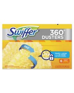 360 Dusters Refill, Dust Lock Fiber, Yellow, 6/box, 4 Box/carton