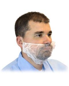 White Poly Beard Cover, 1000/CS