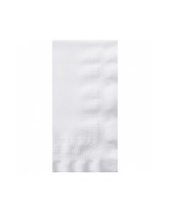 """Linen-Like® White Dinner Napkins, 1/8 Fold, 8.5""""x4.25"""", 75/BX 4BX/CS"""