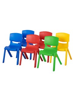 """12"""" School Resin Stack Chair, Blue"""