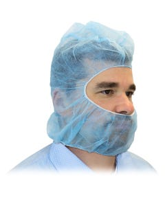 Blue Poly Pro Hood, 100PCS/BAG 1000PCS/CS