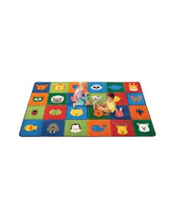 KIDSoft Animal Patchwork - Primary, 8' s 12' Rectangle