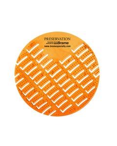 PRESERVATION Brand Mango Bay Anti-Splash Urinal Screen, Pearl, 10/BX