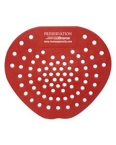 PRESERVATION Brand Urinal Screen, Cherry, Red, 12/BX 6BX/CS