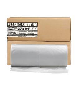 Aluf Plastics Clear All Purpose Poly Sheeting, Extra Strong, 4 mil, 20' x 100'