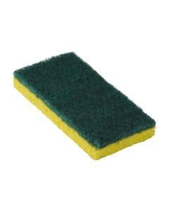 "Scouring Sponge, Yellow/Green, Medium Duty, 6.25""x3.18""x0.88"", 20/CS"
