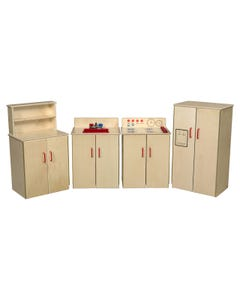 Set of (4) Classic Appliances with Deluxe Hutch,